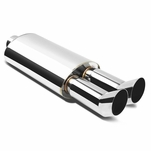 Universal DTM Style Stainless Steel Exhaust Muffler
