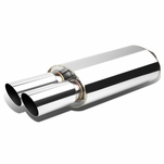 Universal Dual Tip Style Stainless Steel Exhaust Muffler