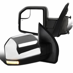 Ford 15-18 F150 Pickup Power Heated Chrome Side Mirrors w/ LED Signal