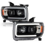 2015-2019 GMC Canyon Black LED Tube Upgrade Projector Headlights