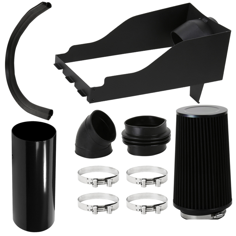 """4/"""" Heat Shield Cold Air Intake with Filter for 99-03 Excursion F250//F350 Black"""