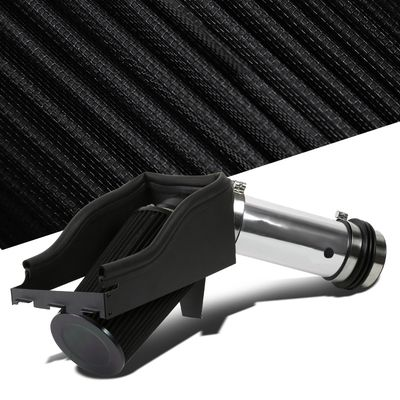 Ford 99-03 F250 F350 7.3L V8 Polished Cold Air Intake Induction+Heat Shield+Filter