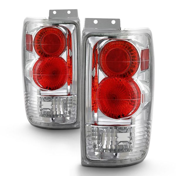 1997-2002 Ford Expedition Euro Altezza Tail Lights - Chrome