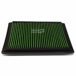 Ford F-Series / Excursion / Expedition / Mark LT Reusable & Washable Replacement High Flow Drop-in Air Filter (Green)