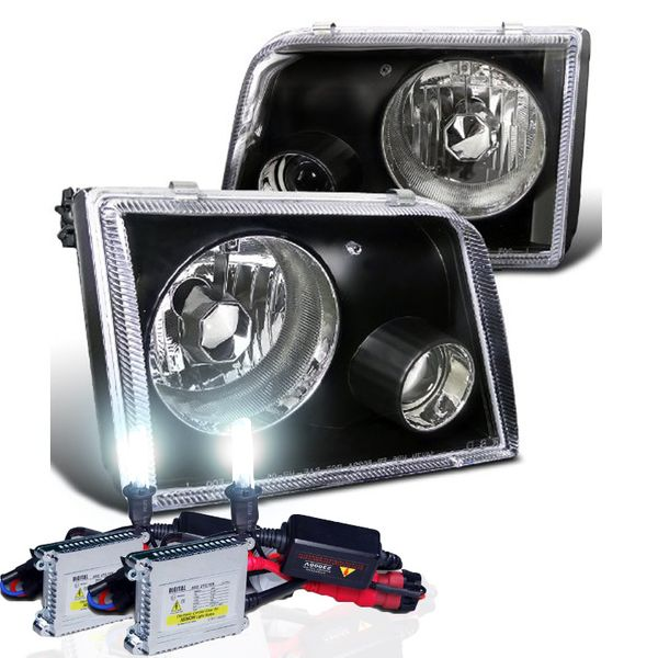 FORD RANGER 93-97 PROJECTOR HEADLIGHTS - BLACK with HID Kit