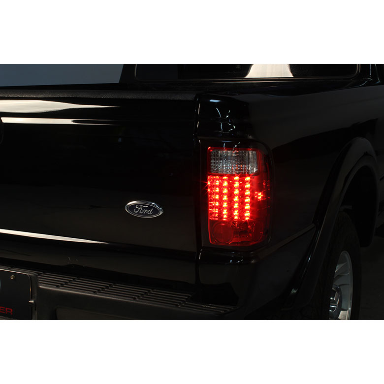 ford ranger 98 01 led altezza tail lights smoked 111 fr98 led sm by spyder spyder auto