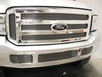 Grillcraft BG Series For-1352-Bao 05-06 Ford Excursion Upper Billet Grille 6Pc (W/O Honey-Comb In Bars) Boltover