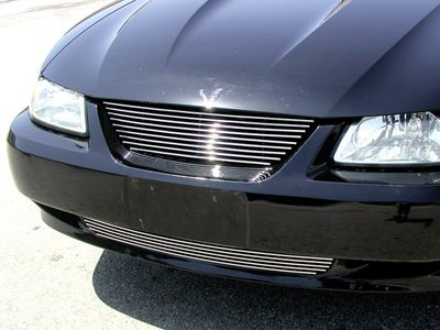 Grillcraft BG Series For-5015-Bac 99-04 Ford Mustang Upper Billet Grille (No Emblem Cut Out) No-Cutting
