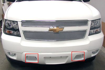 Grillcraft Mx-Series Che-1508-S 07-13 Chevy Avalanche Bumper Insert 2Pc (Tow Hooks Stay In) Silver