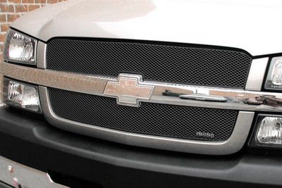 Grillcraft Mx-Series Che-3500-B 01-02 Chevy Silverado Grille Upper 2Pc 2500,3500 H.D Body Series Black