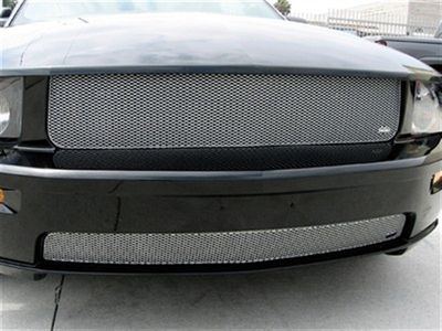 Grillcraft Mx-Series F5026-23S 05-09 Ford Mustang Grille Upper 1Pc Removes Lamps + Lower (Gt Model) Will Not Fit California Special Bumper Silver