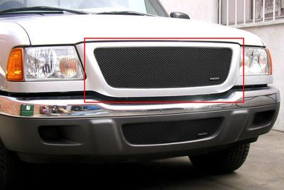 Grillcraft Mx-Series For-1005-B 01-03 Ford Ranger Xl,Xlt Grille Upper Insert Black