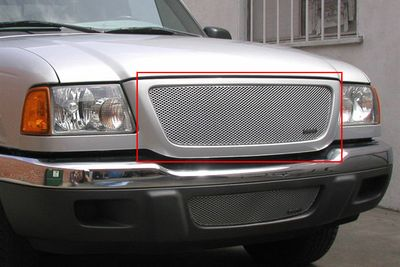 Grillcraft Mx-Series For-1005-S 01-03 Ford Ranger Xl,Xlt Grille Upper Insert Silver