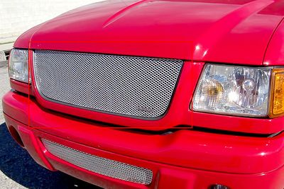 Grillcraft Mx-Series For-1007-S 01-03 Ford Ranger (Edge) Grille Upper Insert Silver