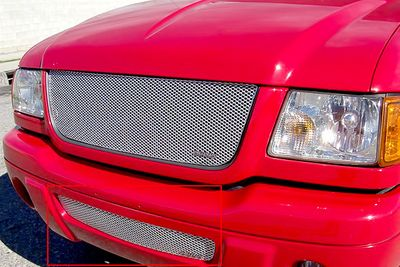 Grillcraft Mx-Series For-1008-S 01-03 Ford Ranger (Edge) Grille Bumper Insert Silver