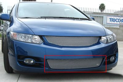 Grillcraft Mx-Series Hon-1154-S 09-11 Honda Civic (2-Door) Grille Lower Silver