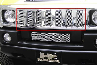 Grillcraft Mx-Series Hum-2500-S 03-07 Hummer H2 Grille Upper Silver