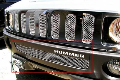 Grillcraft Mx-Series Hum-2504-S 06-10 Hummer H3 Grille Lower Silver