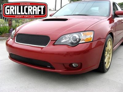 Grillcraft Mx-Series S1729-30B 05-07 Subaru Legacy - Grille Upper + Lower Insert (Will Not Fit Wagon Models) Black