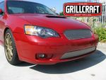 Grillcraft Mx-Series S1729-30S 05-07 Subaru Legacy - Grille Upper + Lower Insert (Will Not Fit Wagon Models) Silver