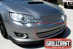 Grillcraft Mx-Series Sub-1732-S 08-09 Subaru Legacy - Grille Lower Insert Silver