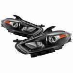 [Halogen Model] 2013-2016 Dodge Dart Factory Style Projector Headlights - Black