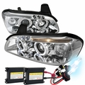 HID Xenon + 00-01 Nissan Maxima [Halogen Model] Halo & LED Projector Headlights - Chrome