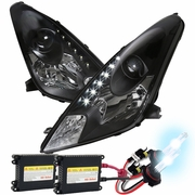 HID Xenon + 00-05 Toyota Celica LED DRL Projector Headlights - Black