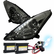 HID Xenon + 00-05 Toyota Celica LED DRL Projector Headlights - Smoke