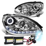 HID Xenon + 00-06 Mercedes-Benz S-Class W220 LED DRL & Halo Projector Headlight  - Chrome
