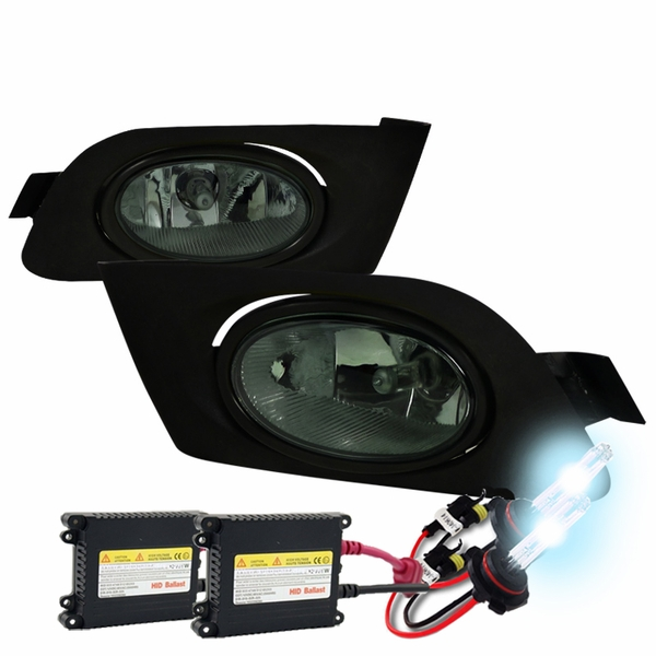 HID Xenon + 2001-2003 Honda Civic 2/4dr OEM Replacement Fog Lights Kit - Smoked