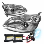 HID Xenon + 01-03 Honda Civic [Non-Si] Crystal Headlights - Chrome