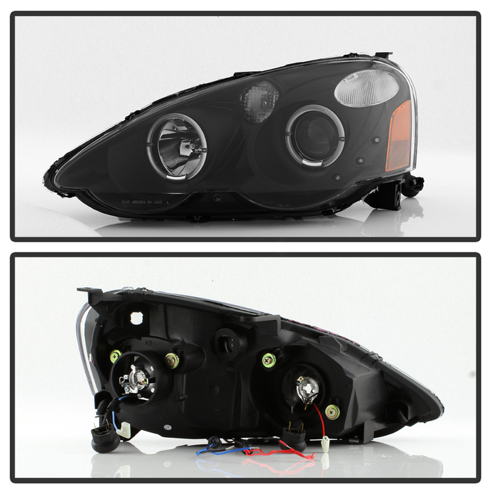 HID Xenon + 02-04 Acura RSX LED DRL & Halo Projector