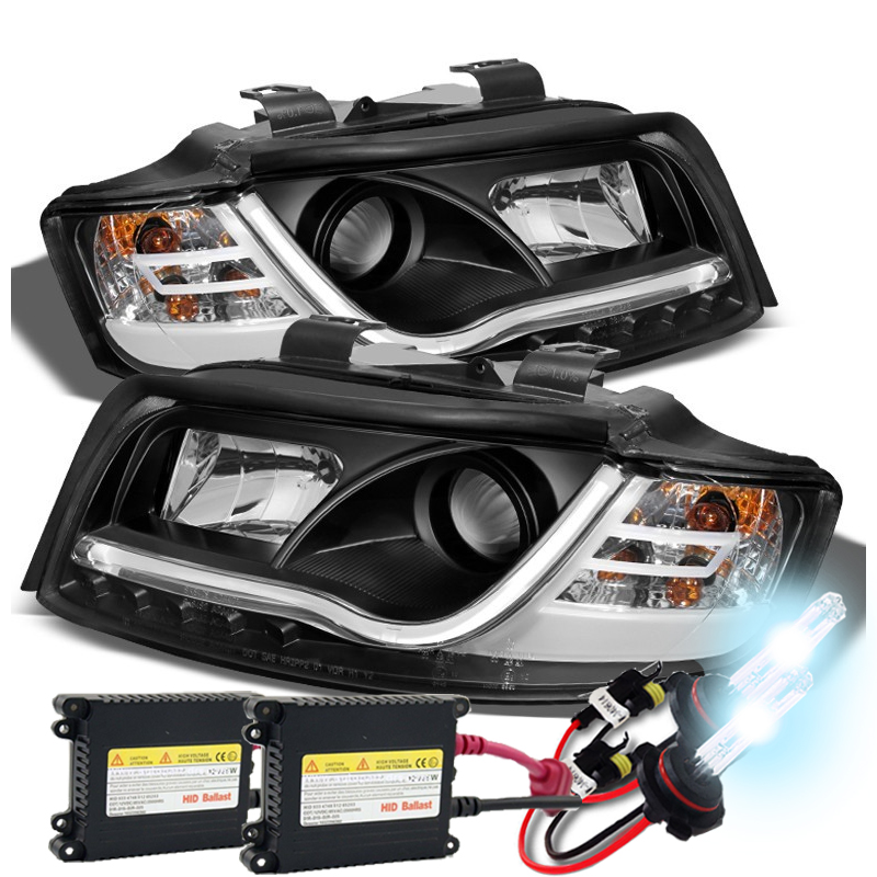 HID Xenon + 02-05 Audi A4 / S4 DRL Light-Tube LED Projector