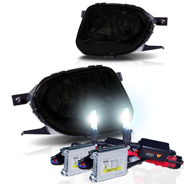 HID Combo 03-06 Mercedes Benz W211 E-Class OEM Style Replacement Fog Lights - Smoked