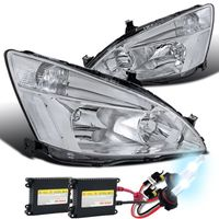 HID Xenon + 03-07 Honda Accord Euro Style Crystal Headlights - Chrome