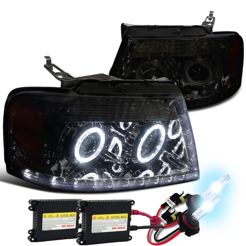 Hid Xenon 04 08 Ford F150 Angel Eye Halo Led Drl Projector