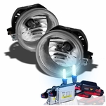 HID Combo 05-08 Dodge Charger Factory Bumper Fog Lights Kit - Clear