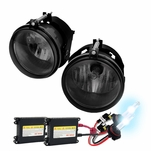 HID Combo 05-08 Dodge Charger Factory Bumper Fog Lights Kit - Smoked