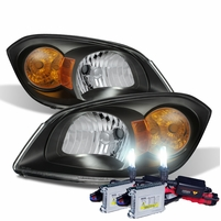 HID Combo 05-10 Chevy Cobalt Factory Style Crystal Headlights - Black
