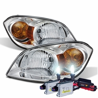 HID Xenon + 05-10 Chevy Cobalt Factory Style Crystal Headlights - Chrome