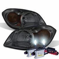 HID Xenon + 05-10 Chevy Cobalt Factory Style Crystal Headlights - Smoked