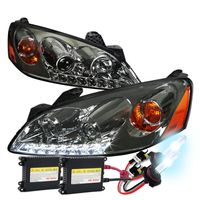 HID Xenon + 05-10 Pontiac G6 LED DRL Projector Headlights - Smoked