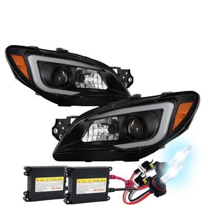 HID Xenon + 06-07 Subaru Impreza WRX [Halogen Type] LED DRL Projector Headlights - Black