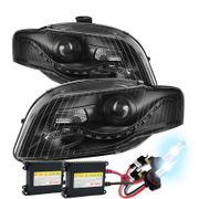 HID Xenon + 06-08 Audi A4 [Halogen Model Only] ) LED DRL Projector Headlights - Black