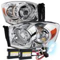 HID Xenon + 06-08 Dodge RAM 1500 2500 3500 Projector Headlights - Chrome