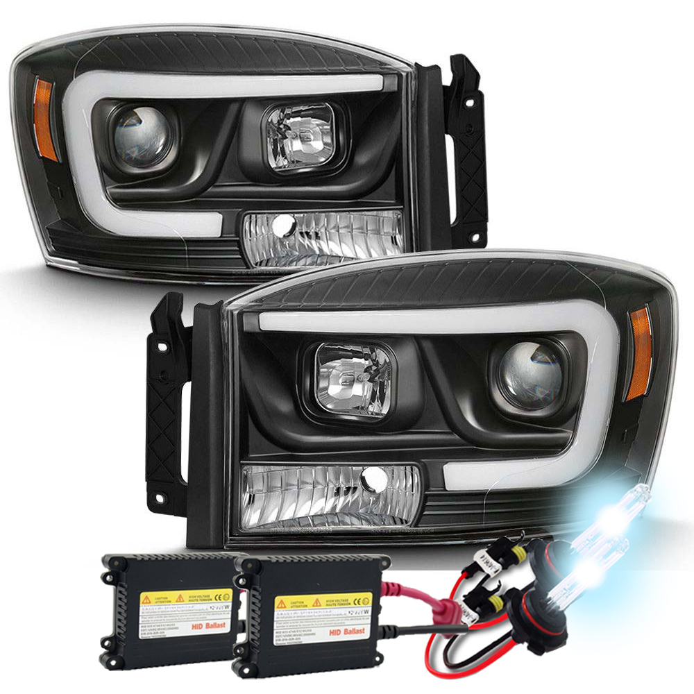 06 08 Dodge Ram 1500 3500 Led Projector Headlights Click To Enlarge