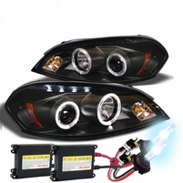 HID Xenon + 06-13 Chevy Impala / Monte Carlo Halo & LED Projector Headlights - Black