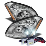 HID Combo 07-08 Nissan Maxima [Halogen Model] Replacement Projector Headlights - Chrome