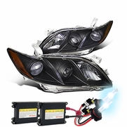 HID Xenon + 07-09 Toyota Camry Projector Headlights - Black